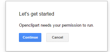 click continue button to give permission