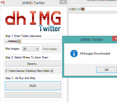 dhIMG Twitter- interface
