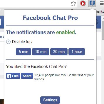 facebook chat notification extensions chrome 4