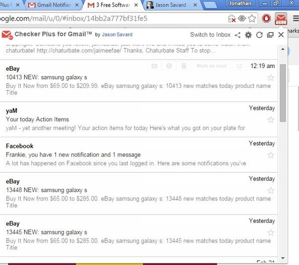 gmail notifier extensions chrome 2