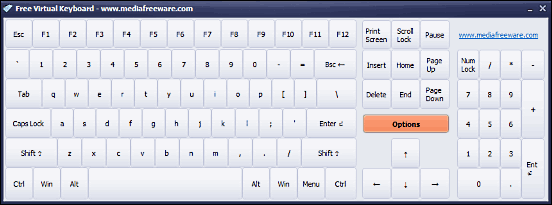 mediafreeware free virtual keyboard
