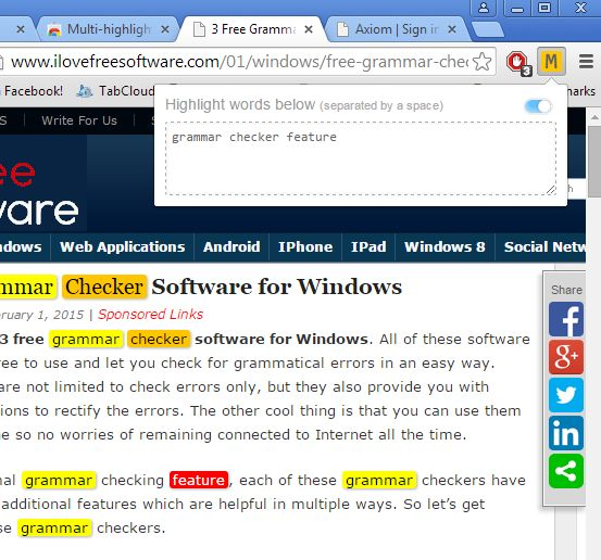 text highlighting extensions chrome 1