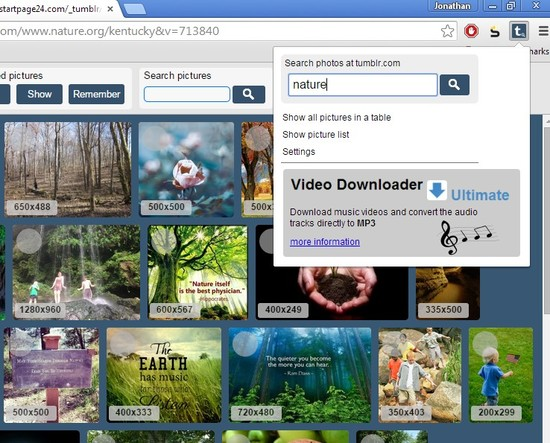 tumblr image downloader extensions for Chrome 1