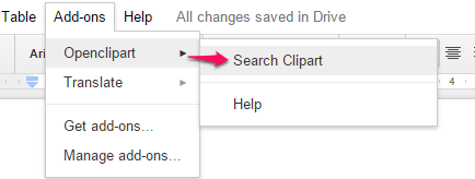 use Search Clipart option