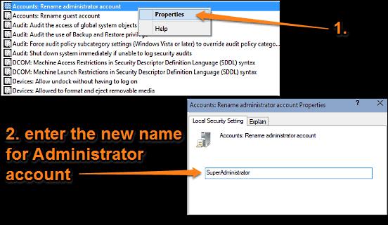 windows 10 rename administrator account
