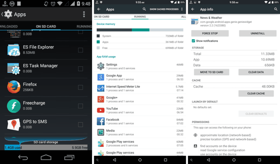 Android System Task Manager on Kitkat and Lollipop
