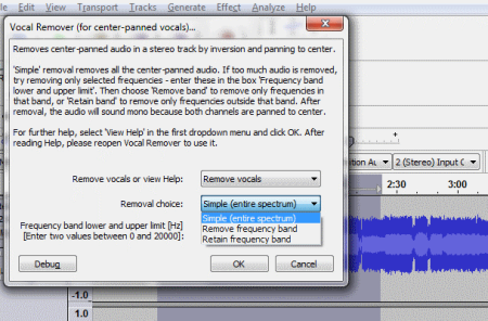 Audacity Vocal Remover
