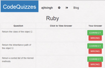 Code Quizzes