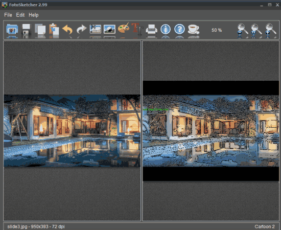 FotoSketcher- interface