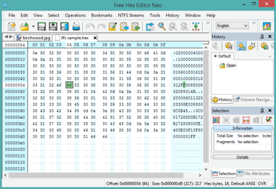 Free Hex Editor Neo- interface