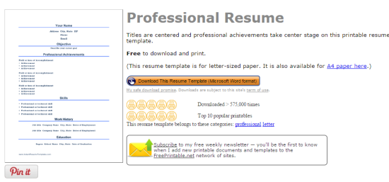 Instant Resume Templates