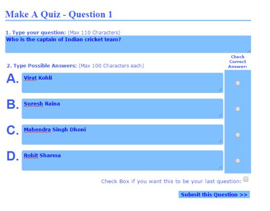 Make A Quiz