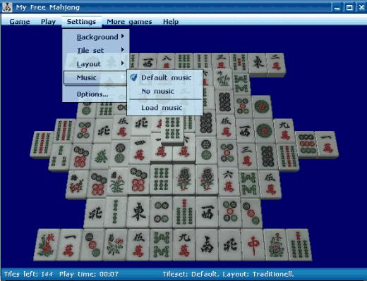 My Free Mahjong- interface