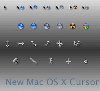 New Mac OS X cursor