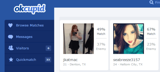 okc dating persona