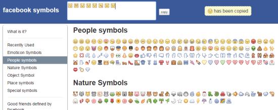 Pilliapp Facebook Symbols