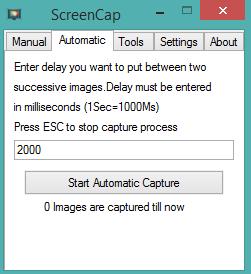 ScreenCap- interface