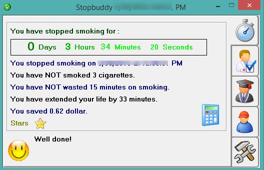 Stopbuddy- interface
