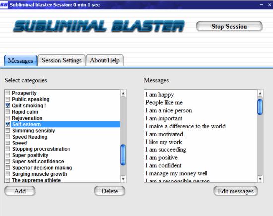 Subliminal blaster- interface