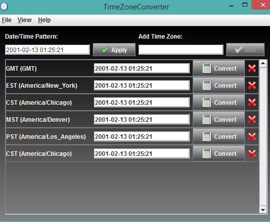 TimeZoneConverter- interface