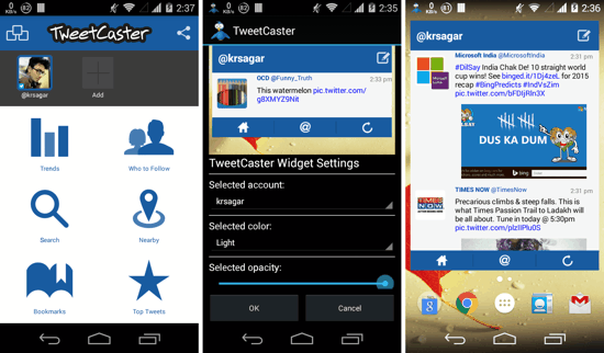 5 Best Twitter Widgets for Android