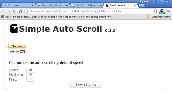 auto scroll extensions chrome 2