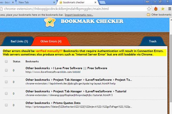 dead bookmark checker extensions chrome 1