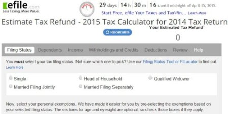 efile tax calculator