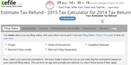 efile tax calculator