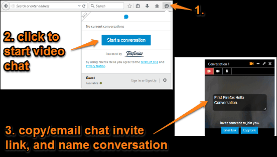 firefox hello conversation started