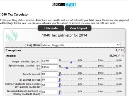 jackson hewitt tax calculator
