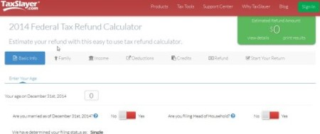 taxslayer calculator