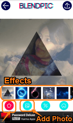 BlendPic -material effect or select another photo