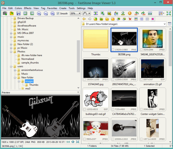 FastStone Image Viewer- interface