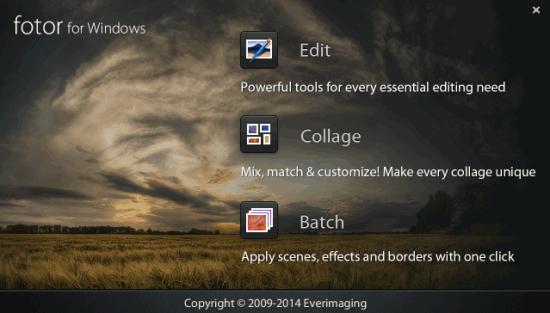 Fotor- interface