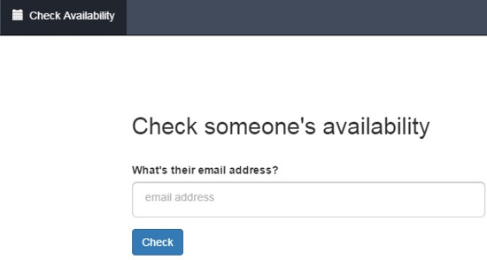 FreeBusyCheck Availability