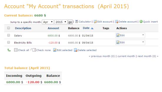 Money Trackin
