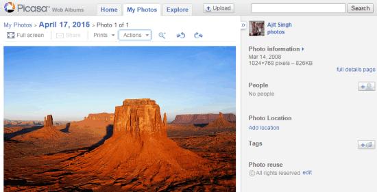 Picasa Web Albums