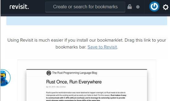 Revisit Bookmarklet