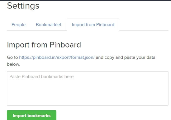Import Bookmarks from Pinboard
