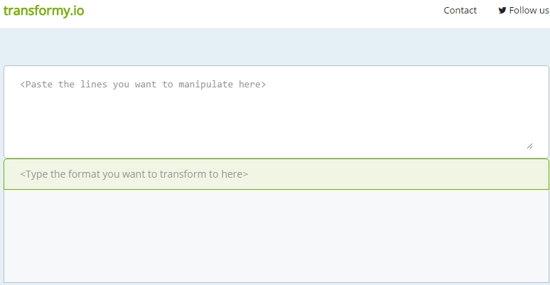 Transformy.io Work Space