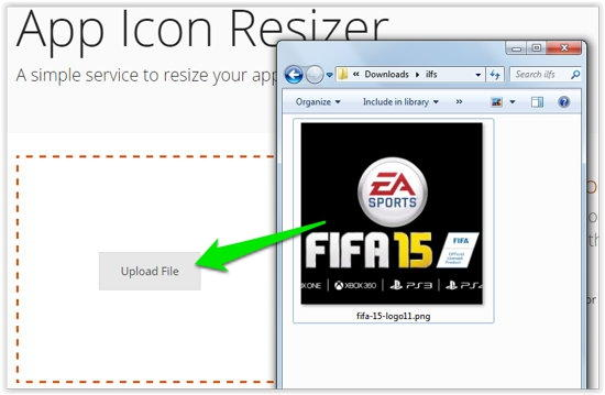 App Icon Resizer Upload Image