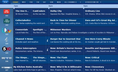 online TV guide