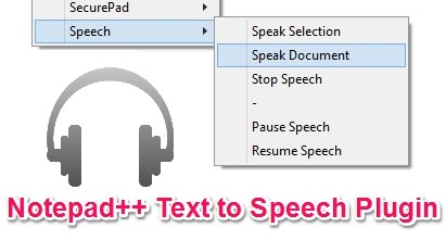 Speech - Text To Speech Notepad++ Plugin