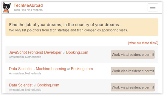 Techmeabroad Job List