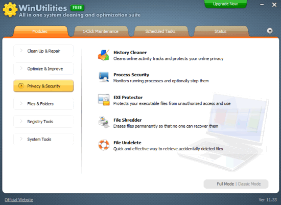 WinUtilities free version