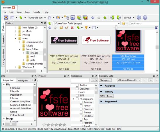 XnViewMP- interface