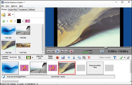 bolide slideshow creator homepage
