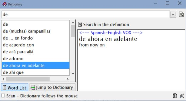 dictionary software windows 10 1