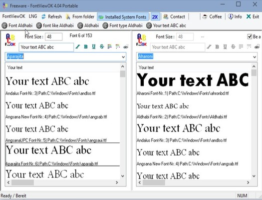 font viewer software windows 10 4